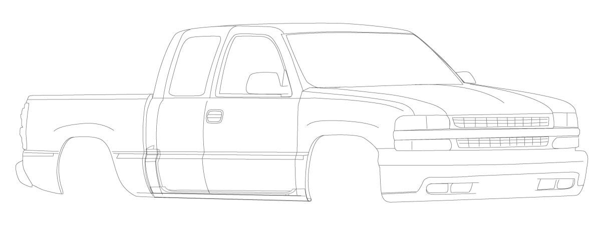2000-2006 Four Door Extended Cab Silverado - Rust Repair Panels