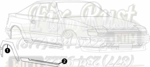 1986 1989 Celica Rust Repair Panels